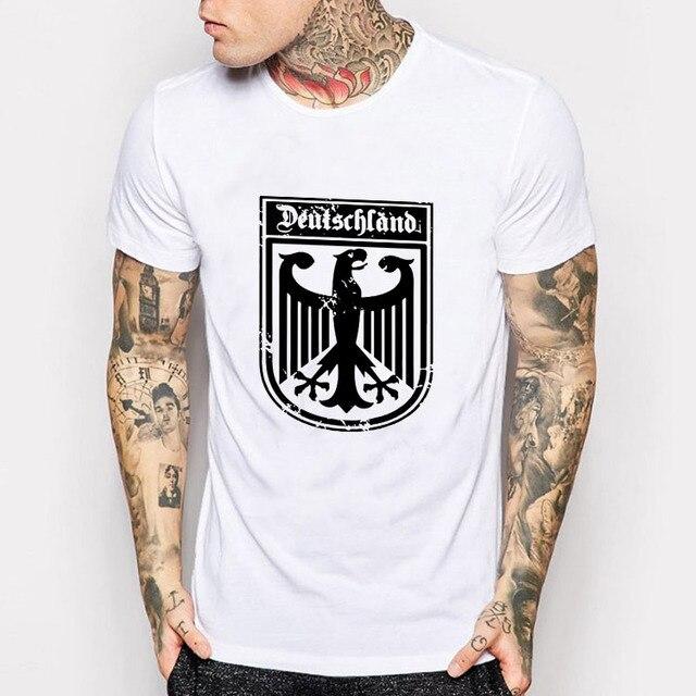 d008490cadd98 Brasão Da Bandeira Alemanha Deutschland Alemão Águia T Camisa dos homens de  Moda de Nova Marca