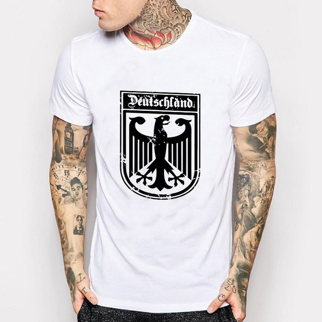 Deutschland German Flag Crest Germany Eagle T Shirt Men\'s New ...