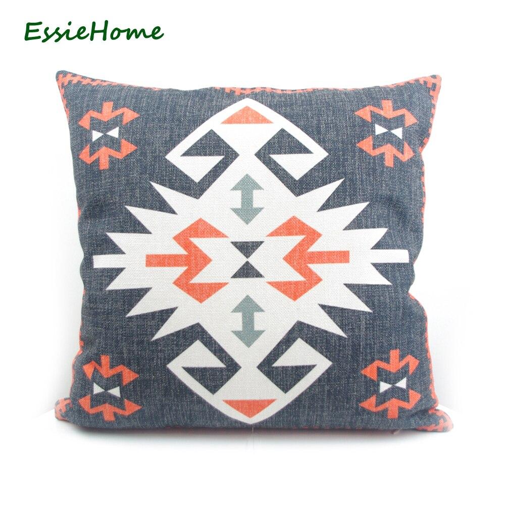 ESSIE HOME High-End digitální tisk Černá turecká etnická Kilim vzor polštář případ polštář kryt pro pohovku Vintage vzhled Home Decor  t