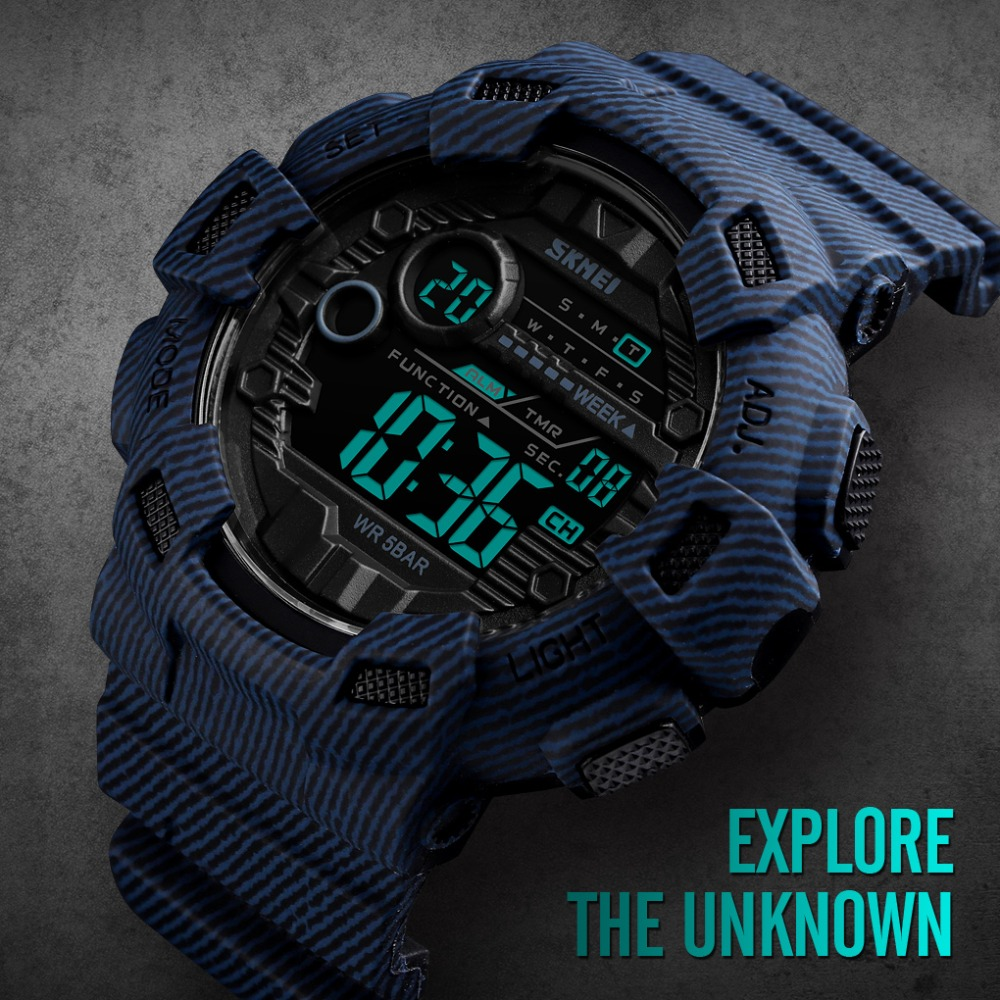 Nuevo reloj de pulsera deportivo Digital para hombre reloj de pulsera para hombre reloj despertador de dos horas reloj de moda para hombre marca superior SKMEI