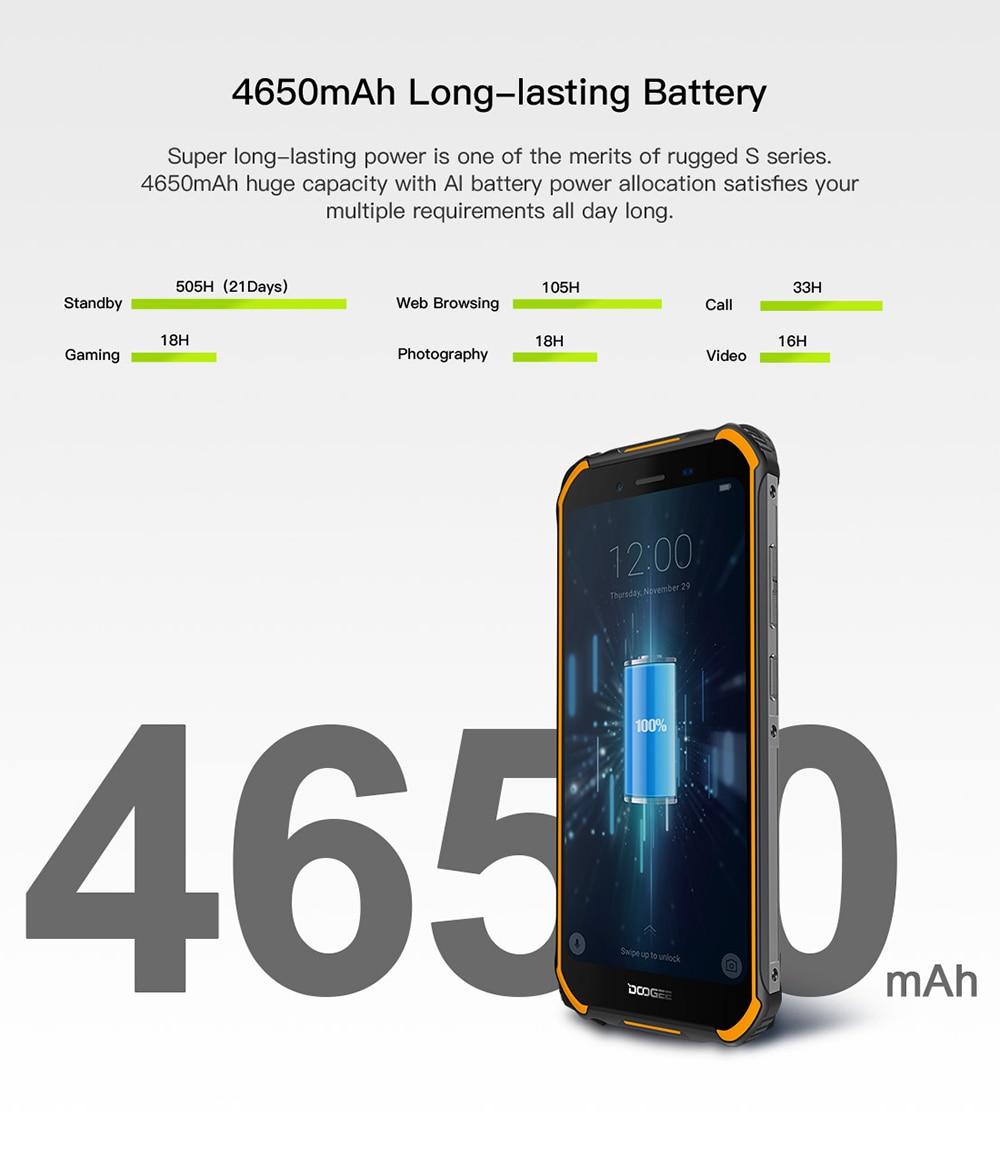 HTB1qLkuL3HqK1RjSZJnq6zNLpXaB DOOGEE S40 4GNetwork Rugged Mobile Phone 5.5inch Display 4650mAh MT6739 Quad Core 3GB RAM 32GB ROM Android 9.0 8.0MP IP68/IP69K