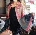 Tippet 200 x 70 cm grande cachecóis outono BOHO Vintage lenços exóticos pashmina acessórios