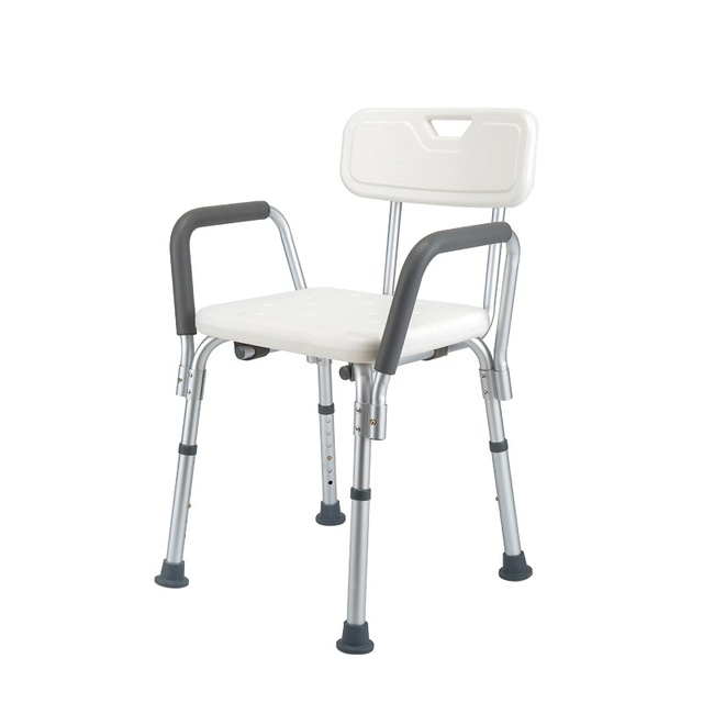 Heavy Duty Shower Chair, Shower Seat With Removable Back Rest ...