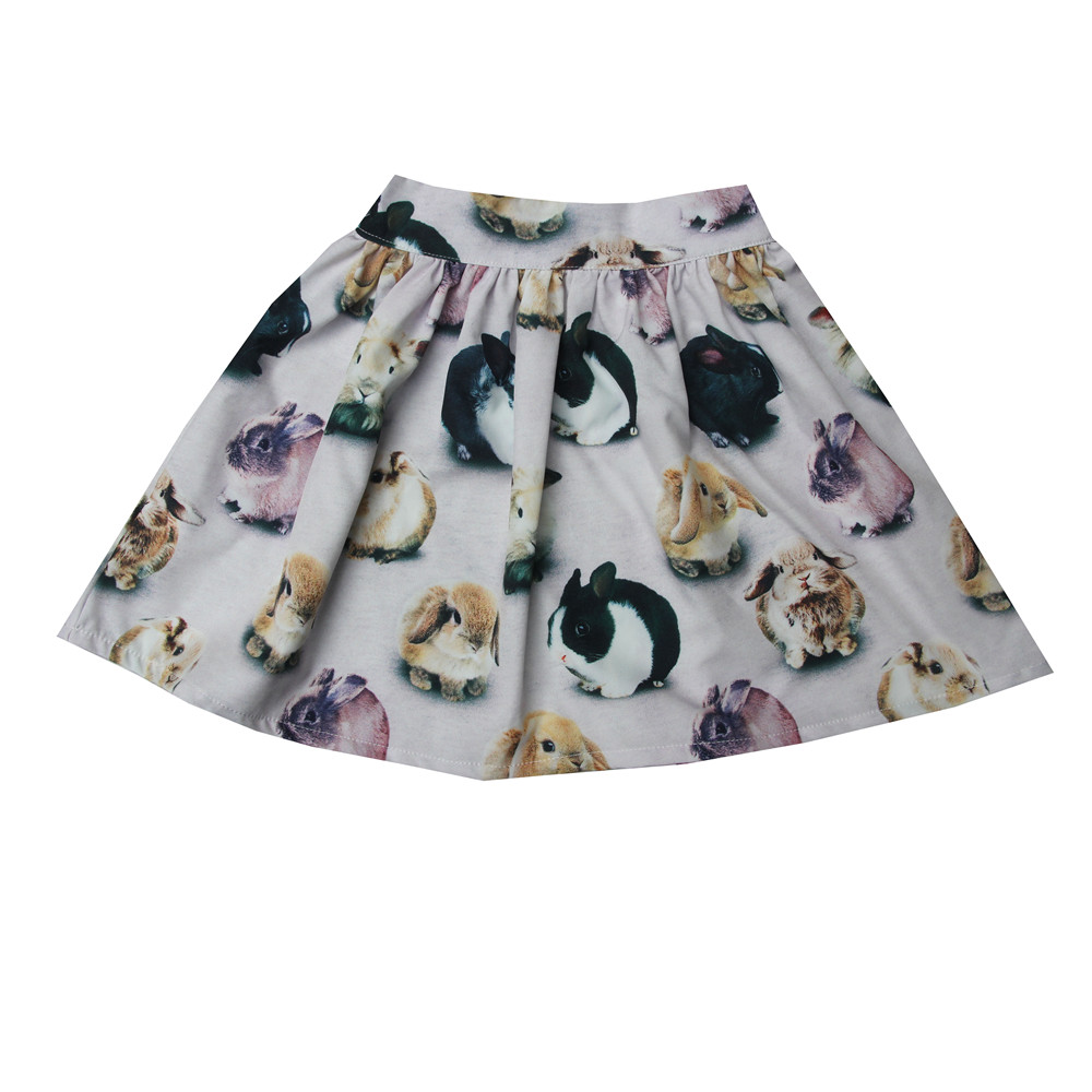 100% Wahr Kinder Röcke Neue Kaninchen Gedruckt Mädchen Cute Flower Röcke Baby Kinder Prinzessin Röcke Mädchen Beliebten Rock Kinder Sommer Kleidung