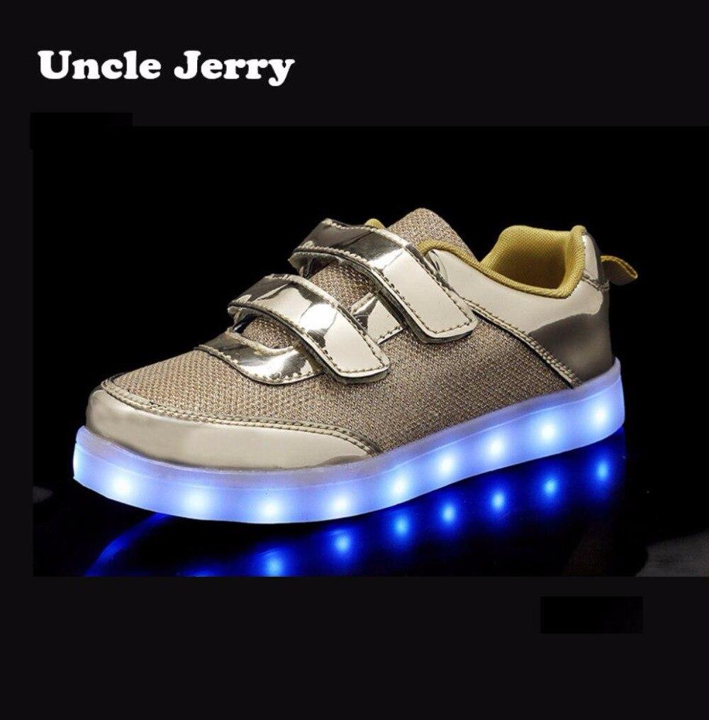 UncleJerry Led Chaussures pour enfants Enfants Lumineux Sneakers Lumineux De Tennis Chaussures pour garçons filles USB De Charge LED lumière chaussure De Mode