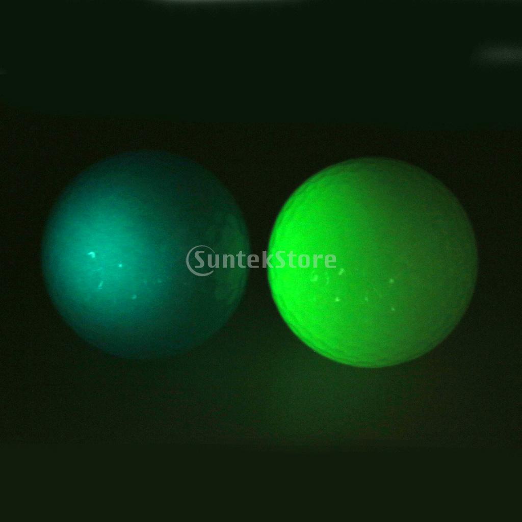 Rubber Golf Luminous Ball Professional Training Balls Golf Accessory ...