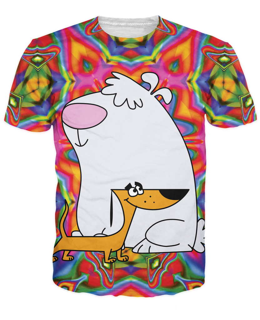 T Shirts Cartoon Characters : Women men d tee stupid dogs t shirt s american