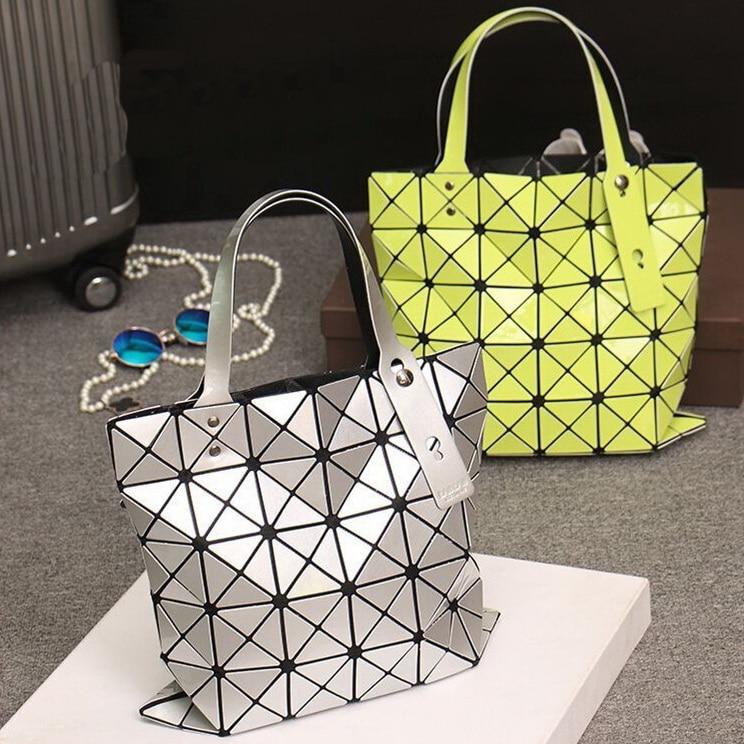 Bao mujeres geometría bolso Laser colores mano Japón 15 brillo wpEnPOqIxU