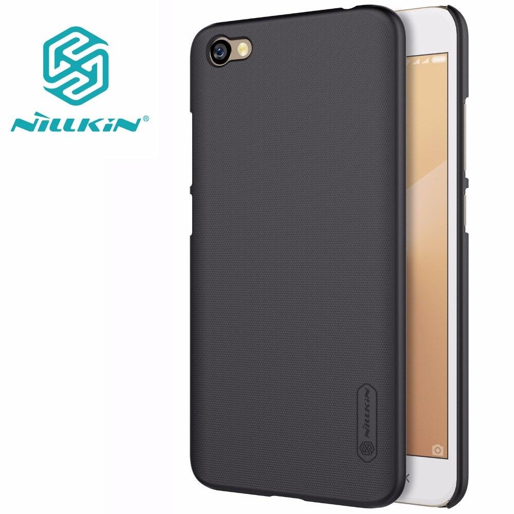 Xiaomi Redmi Note 5A cas Xiaomi Redmi Note 5A couverture NILLKIN Super Givré Bouclier mat dur de couverture arrière + d'écran gratuit protecteur