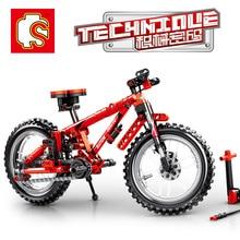 Sembo Diamon Nano Blocks Mountain bike Mechanical password Technic Voiture  Building Brick Educational Toy Gift цена