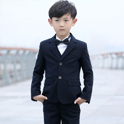 Blue(Jackets+Vest+Pants+Shirts+bow tie)Boy Suits Flower girl Slim Fit Tuxedo Brand Fashion Bridegroon Dress Wedding Suits Blazer цены онлайн