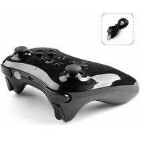 New High Quality Black Dual Analog Wireless Gamepad Controller Remote For Nintendo Wii U Pro Free