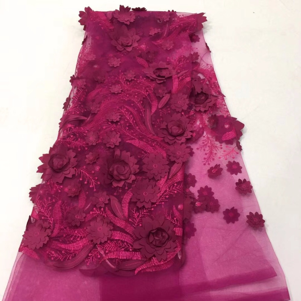 African Handmade of lace 3D Flower Nigerian High Quality lace fabric sale French wedding dress African Handmade of lace 3D Flower Nigerian High Quality lace fabric sale French wedding dress
