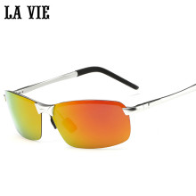 AIRCRAFT Grade Aluminum Magnesium Alloy HD Polarized Sunglasses Rimless Sun Glasses Driving Oculos Gafas LV8143-1