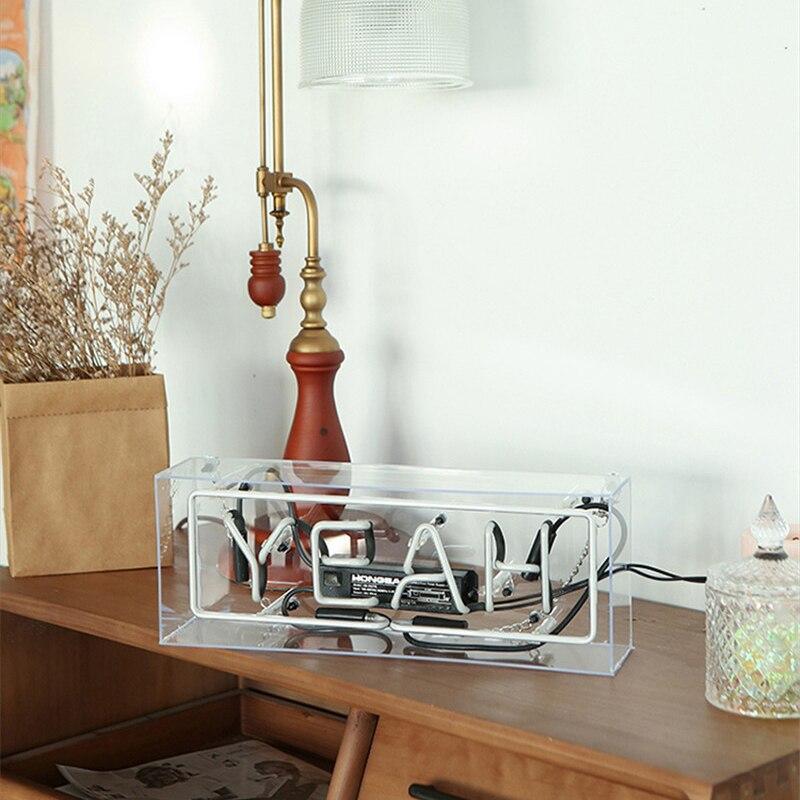 Ouais amour maison signe emblématique néon signes lampe Tube fabriqué à la main conception personnalisée néon ampoule Bar à bière Pub maison KTV éclairage professionnel - 5