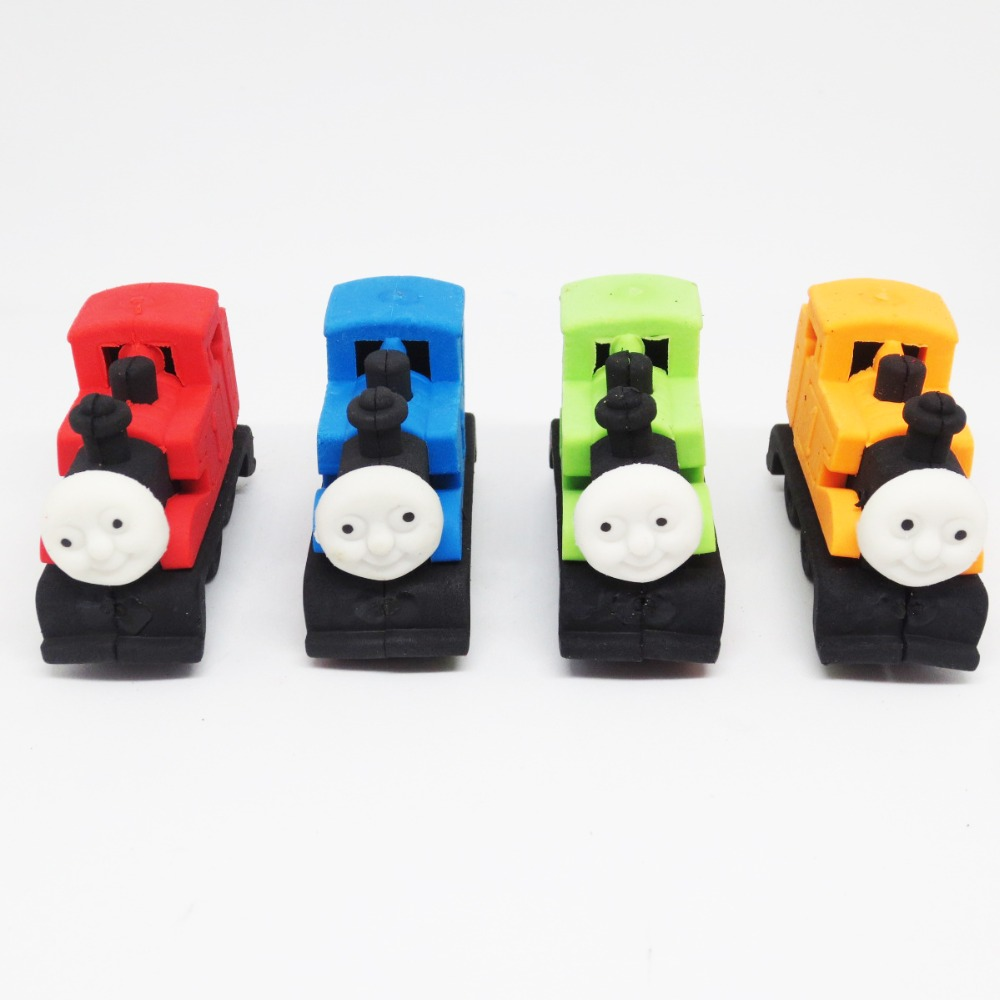 Creative Cartoon Detachable DIY Car And Train Eraser School Student Correction Rubber Stationery Office Pencil Eraser Supplies