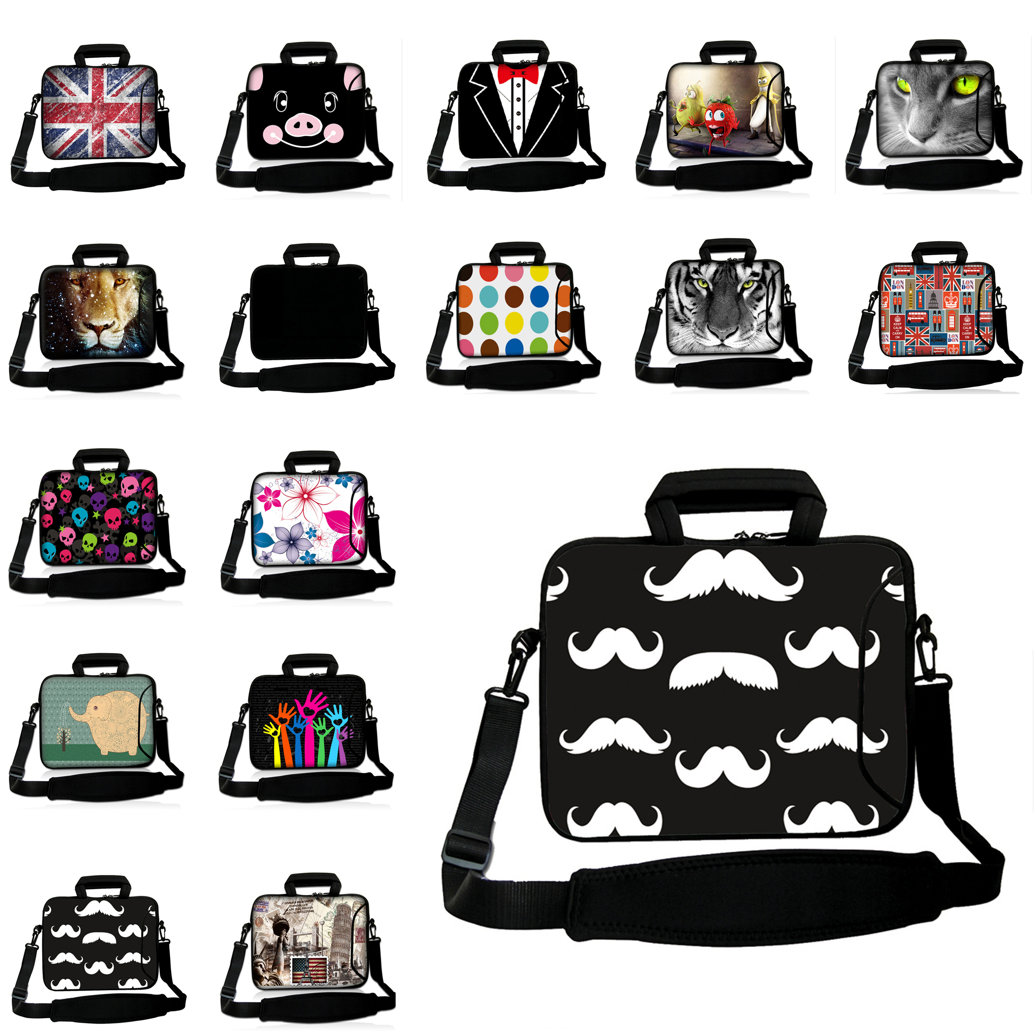 For 10.1 10.2 9.7 10 inch Huawei Samsung Ipad Air Thinkpad Neoprene Messenger Tablet Bags 10 inch Shoulder Strap Netbook Cases