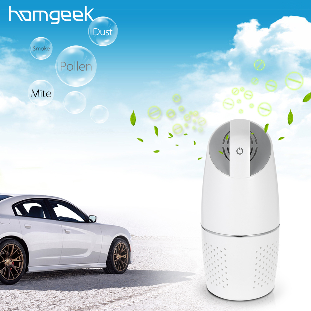 Homgeek Car Air Purifier Professional Car Purifier 8W HEPA filter Air Freshener Vehicle Air Purifier 2016 hot selling car hepa activated carbon filter car air purifier with ce