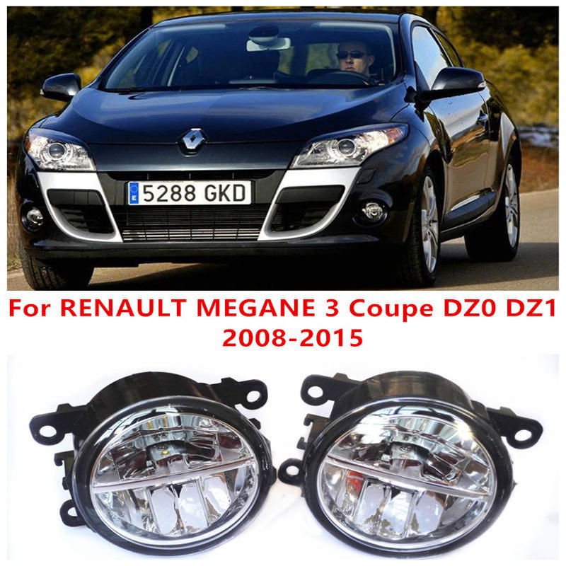 For RENAULT MEGANE 3 Coupe DZ0 DZ1  2008-2015 Fog Lamps LED Car Styling 10W Yellow White 2016 new renault megane coupe 1999