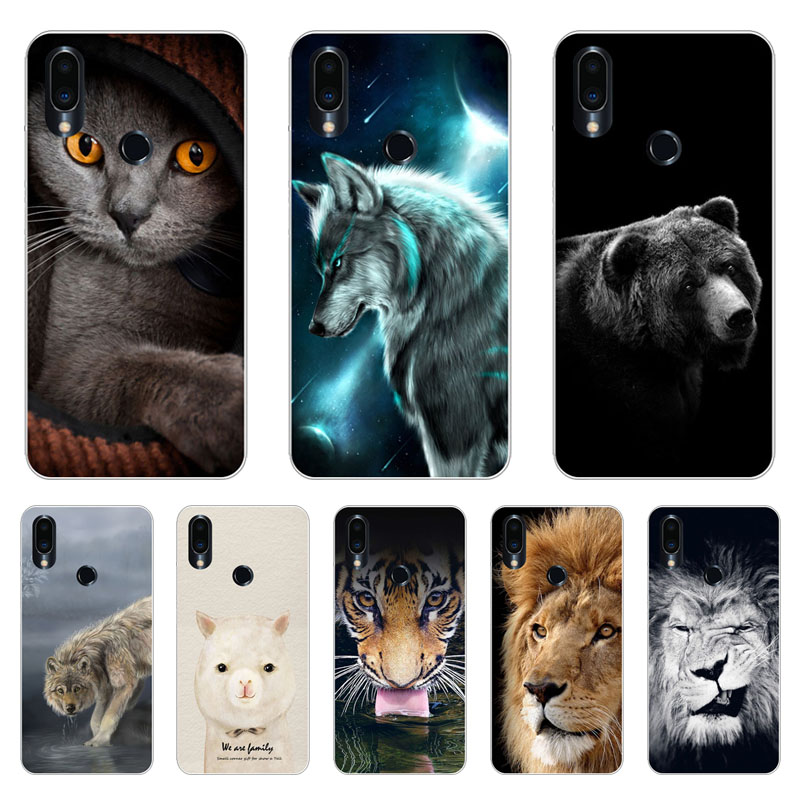 Meizu note 9 Case,Silicon Fierce animals Painting Soft TPU Back Cover for Meizu note9 Phone shell Coque Funda