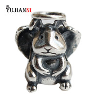 925 Sterling Silver Angel Rabbit Beads for Jewelry Making Animal Charms Fits Original Troll Bracelet & Necklace