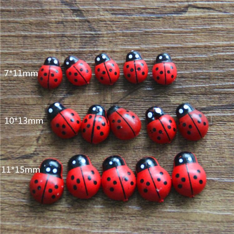 100PCSBonsaiterraium decorationresin craftsfairy garden gnomeflower potsmall beetlesmall ladybuglovely gifts