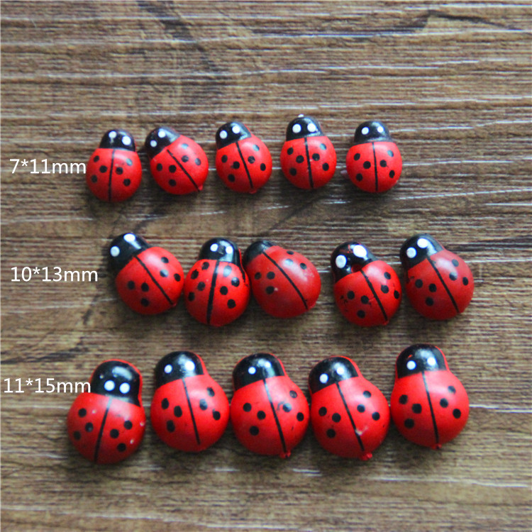 Us 5 0 100pcs Bonsai Terraium Decoration Resin Crafts Fairy Garden Gnome Flower Pot Small Beetle Ladybug Lovely Gifts In Figurines