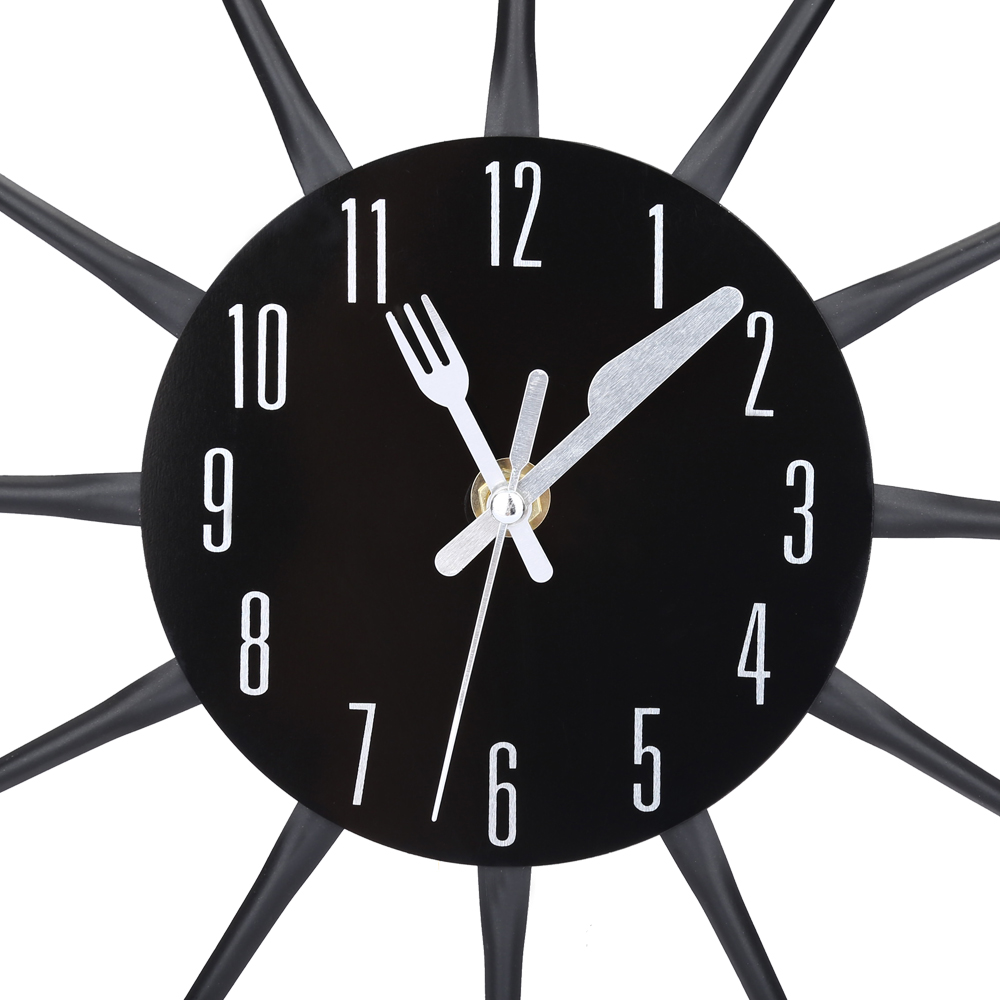 2017 cutlery metal kitchen wall clock spoon fork creative quartz 2017 cutlery metal kitchen wall clock spoon fork creative quartz wall mounted clocks modern home decor modern design decorative in wall clocks from home amipublicfo Choice Image