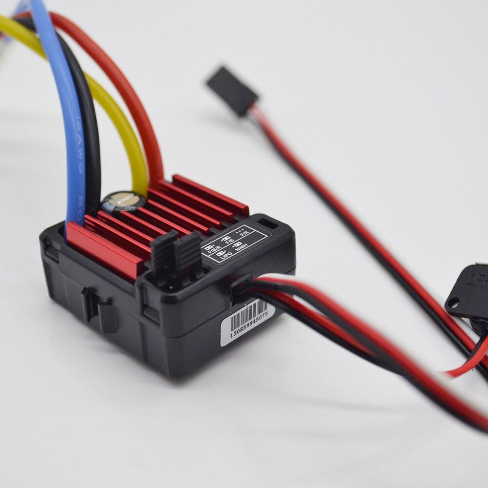 1 unidades HobbyWing QuicRun 1:10 cepillado 60A QuicRun impermeable 1060 60A controlador de velocidad electrónico ESC