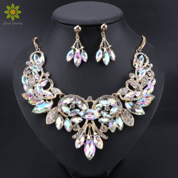 New Luxury Indian Bridal Jewelry Sets Wedding Party Costume