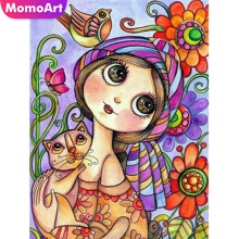 MomoArt DIY Diamond Painting Cartoon Embroidery Full Square Rhinestone 5D Mosaic Cross Stitch
