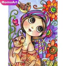 MomoArt DIY Diamond Painting Cartoon Embroidery Full Square Rhinestone 5D Mosaic Cross Stitch