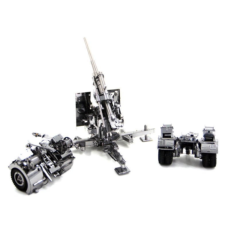 3D casse-têtes en métal Modèle Allemagne 88 d'arme Antiaérien et D'artillerie Puzzle Enfant Adulte jouets éducatifs Collection De Noël Cadeaux - 5