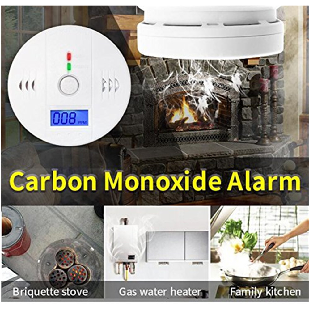 free shipping!LCD CO Sensor Work alone Built-in 85dB siren sound Independent Carbon Monoxide Poisoning Warning Alarm Detector Монооксид углерода