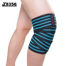 K8356 High Elastic Bandages Kneepads Sports Safety Winding Pressure Leggings Fitness Training Basketball Knee Protector