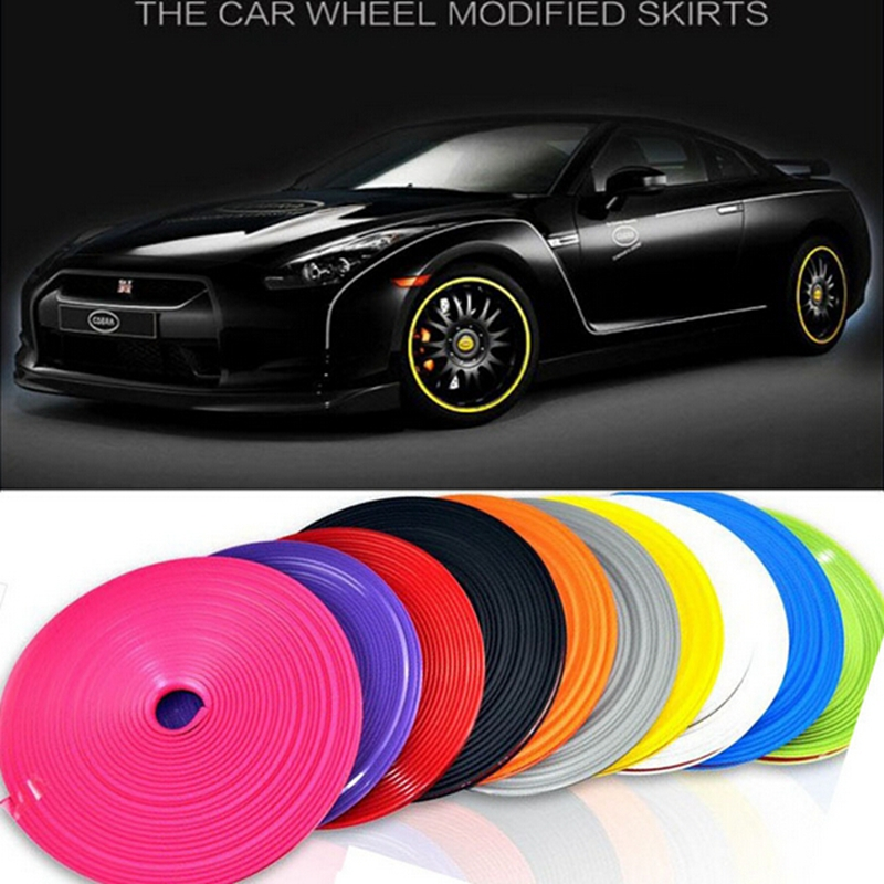 HUB WHEEL CAP COVER Stickers Tape strip Tire Tyre wheel Rims rubber protector Car-styling for VW golf 4 Chevrolet Opel astra