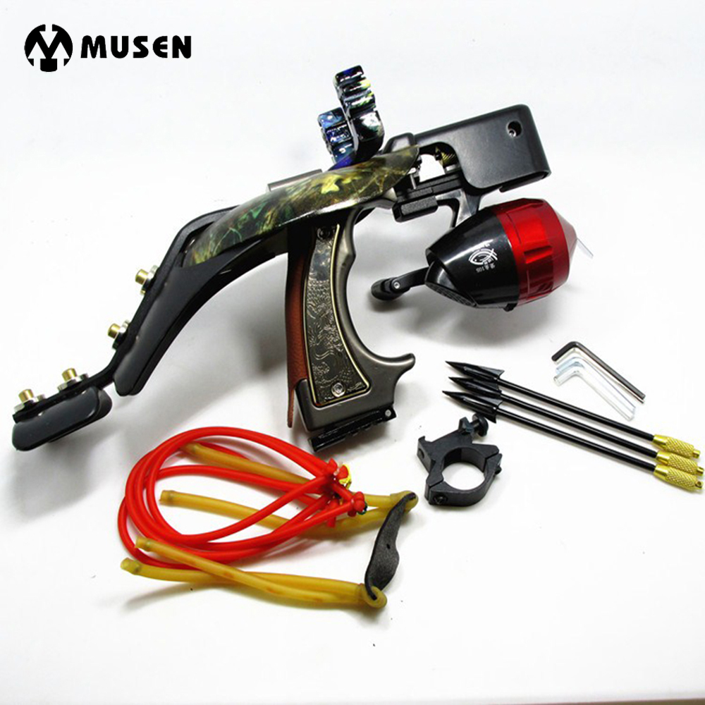 Hunting Fish Slingshot with Red Laser Shooting Fish Artifacts Recurve Bow for Outdoor Hunting Shooting Fish nidec v60e12bs1a7 09a032 6cm 60mm 496064 001 496066 001 server cooling fan p n 463172 001 dl380g6 dl388g7