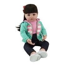 NPK 48 см reborn Детские игрушки куклы lol Мягкие силиконовые винил reborn длинные куклы c волосами bebes reborn bonecas playmates brinquedos