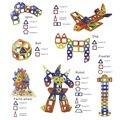 Accesorios magnéticos juguetes educativos ladrillos diy bloques de construcción enlighten cuadrado triángulo hexagonal de arco