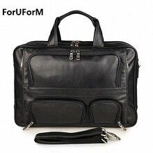 100 Genuine leather men messenger bags business bag 17 inch laptop men bags briefcase tote shoulder