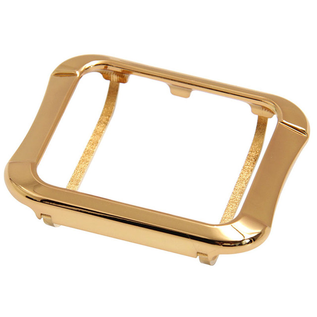 premium selection 24e81 9b10d US $39.99 |Aluminum cover for apple watch gold plated case cover 24K gold  case for Apple watch -in Phone Bumpers from Cellphones & Telecommunications  ...