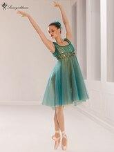 Colorful Adult Green Performance Dance Ballet Lyrical Dress Children Dance Costume Stage Ballet Dress BL0123