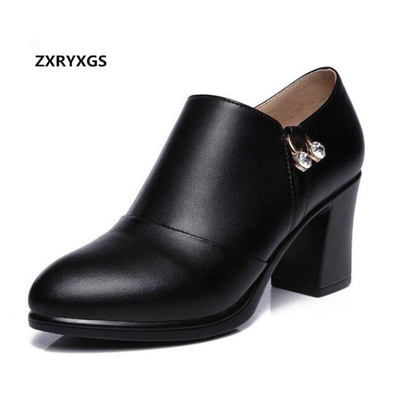 Zxryxgs Imitación Invierno Single Diamantes black red Alto Moda Mujer  Singel Winter Black Zapa Cuero Zapatos ... 8c9c37b51598