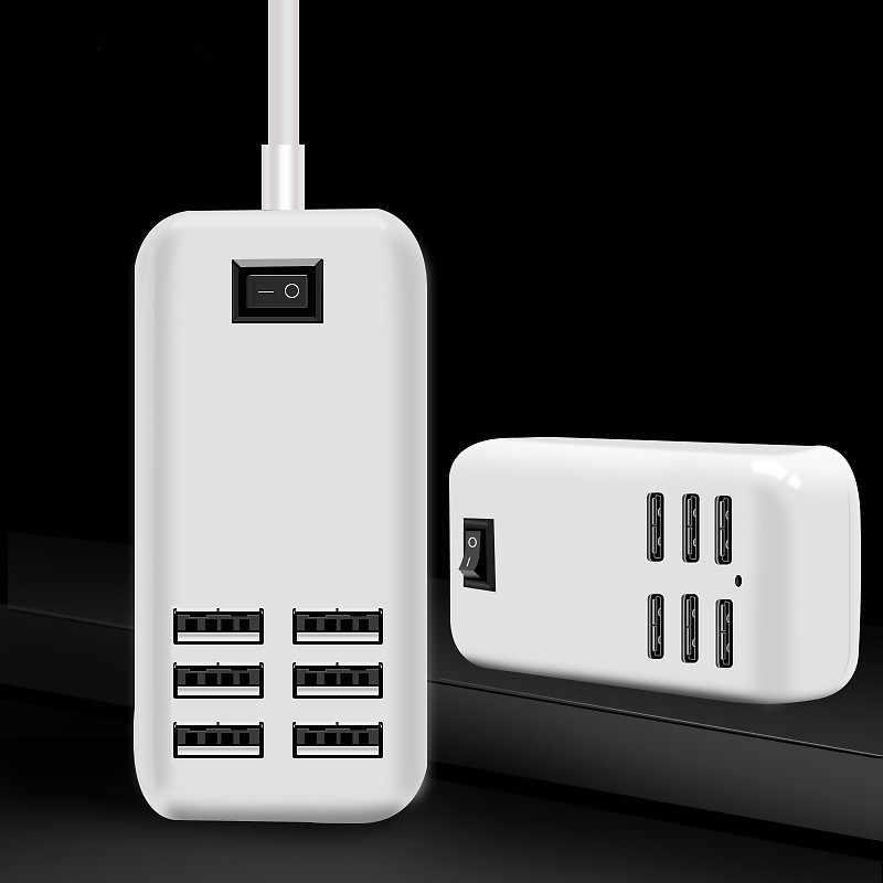 Faichoy 6 منافذ الهاتف USB شاحن آيفون باد سامسونج متعددة جدار شحن 5 V/3A الاتحاد الأوروبي/الولايات المتحدة محول القابس المحمول الهاتف العالمي