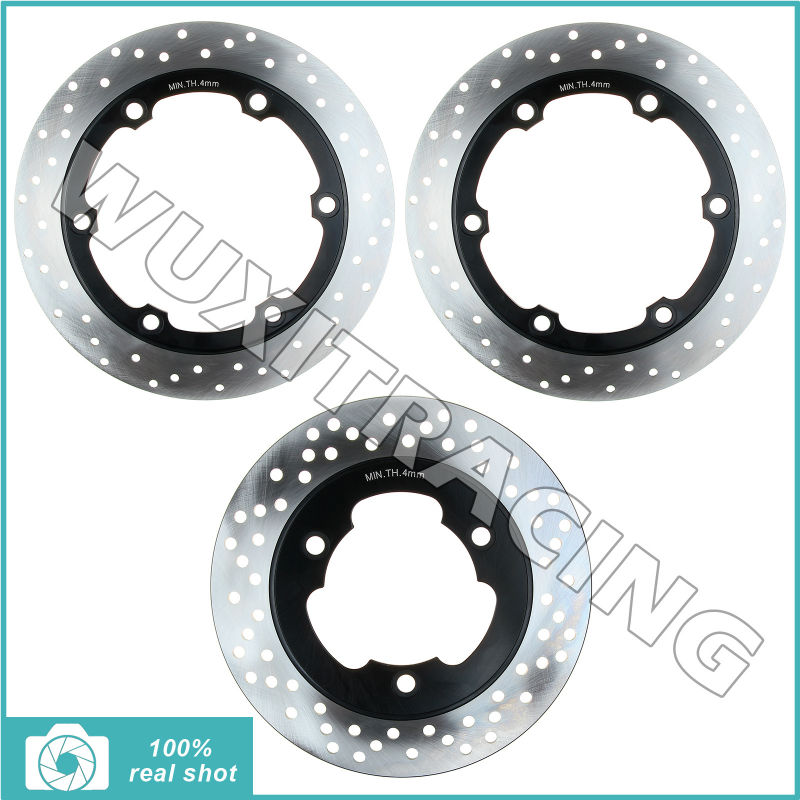 Full Set Round New 256mm+22mmFront Rear Brake Discs Rotors for Honda NS 250 F R 84 85 86 NS 400 85 86 87 NSR 400 VFR 400 Z 86 87 ns loves estonia 400