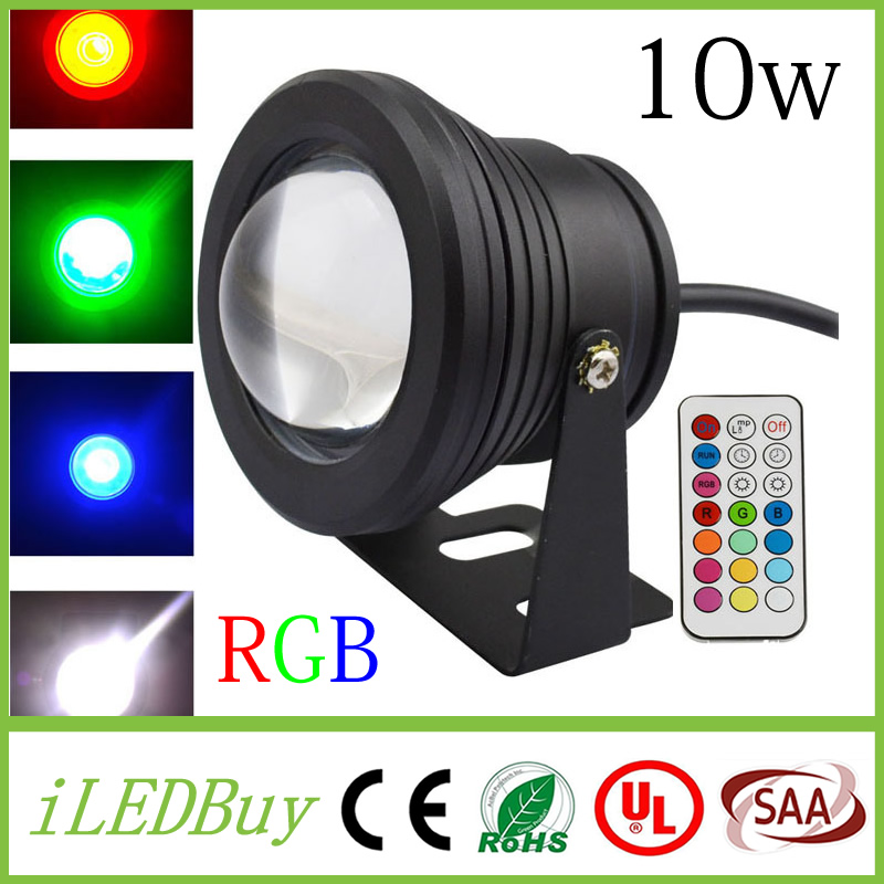 Led Underwater Lights 10w Dc12v Swimming Pool Led Light Underwater Rgb 1000lm Waterproof Ip68 Fountain Light 16 Color Change With Remote Controller Ce Strengthening Waist And Sinews