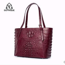 gete imported new Thailand REAL crocodile women handbag fashion  leather single shoulder bag women handbag