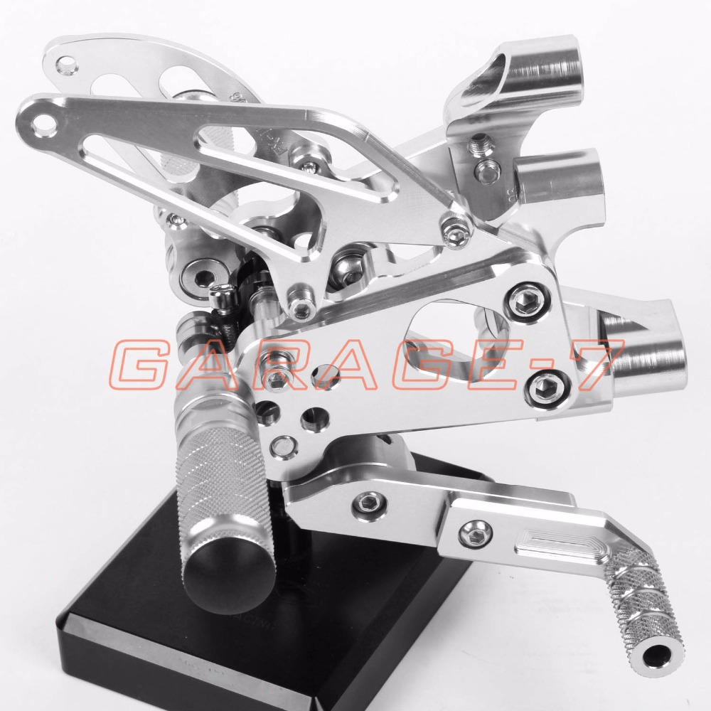 Rearsets Adjustable Foot Rests Rear Set Silver For DUKATI Panigale 1199 1199S 1199R 2012-2013 Motorcycle Foot Pegs A New CNC