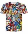 Новинка мужчины экстрим 90 s малыш мультфильмы коллаж мультфильм футболки Harajuku футболки свободного покроя 3D футболки хип-хоп человек лучших тройник