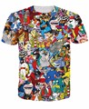 New Fashion men Extreme 90s kid cartoons Collage cartoon T Shirts Harajuku Shirts Casual 3D T-shirts Hip Hop Man  Top Tee